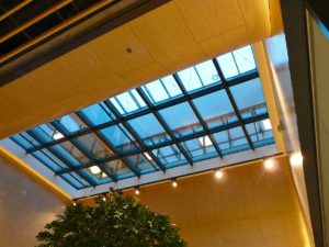 Dach szklany przeciwpożarowy w klasie REI60 zrealizowany dla PCC Ikea w Poznaniu.
